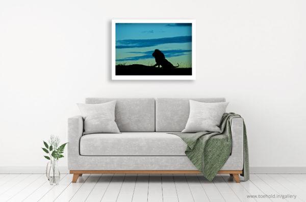 lion silhouette frame