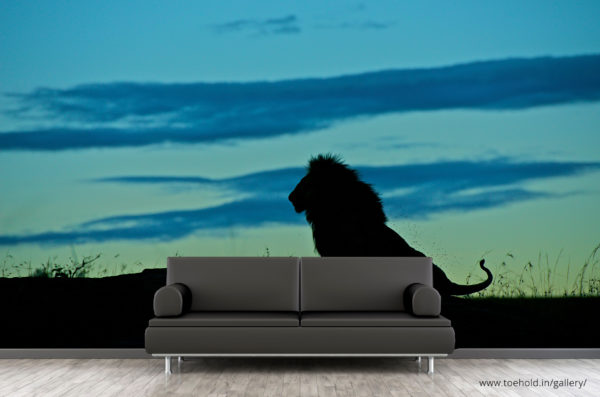 lion silhouette wallpaper