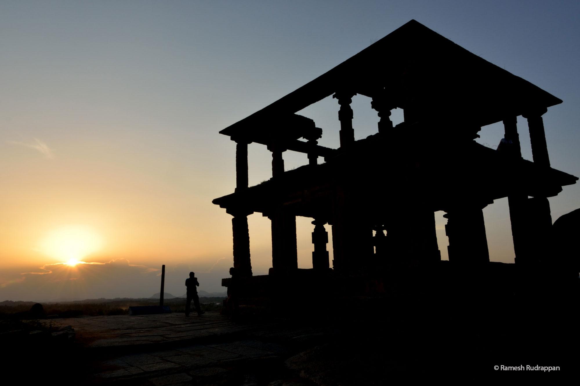 Sunset from Hemakuta Hill