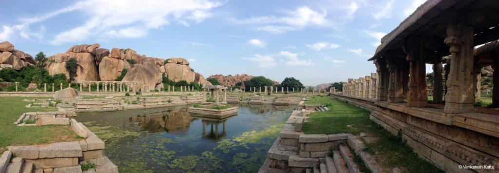 A panoramic view of the pushkarni