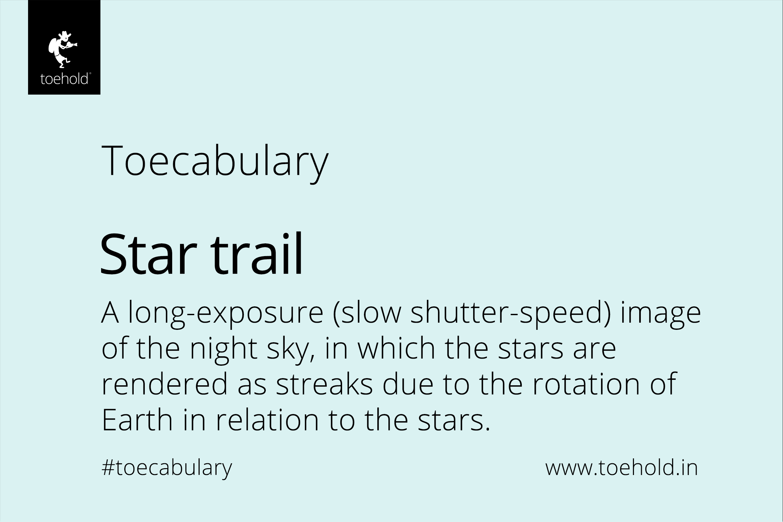 star trail toecabulary 2021